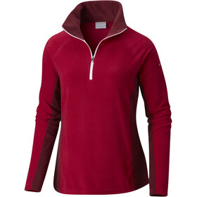 Columbia Glacial IV 1/2 Zip Jacket Women Pomegranate/Rich Wine